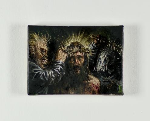 Francesco De Grandi - Cristo deriso - 2016 - Olio su tela - 13x18cm - Cod_9De 2016