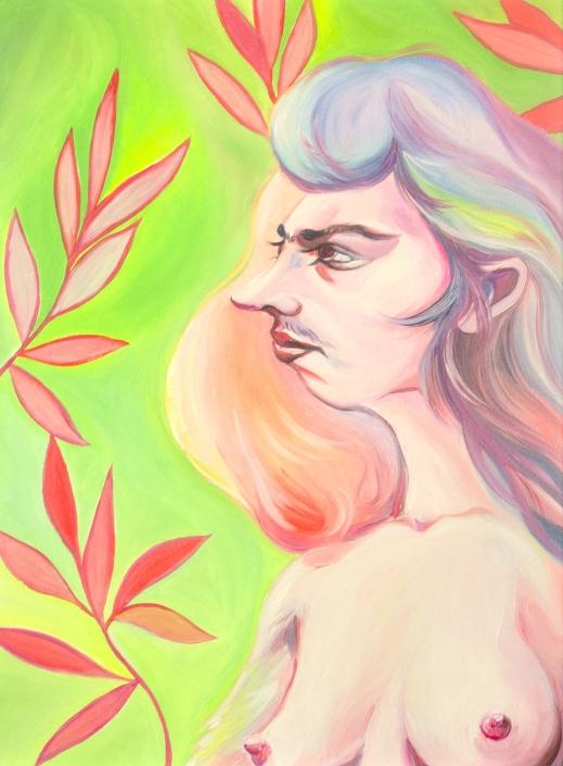 Luigi Presicce - Homo Sapiens Sapiens Sapiens (Maddalena) - 2020 - Olio su carta telata - 46,5x34,5cm - fot_n_ 2456 - Cod_24Pre2020
