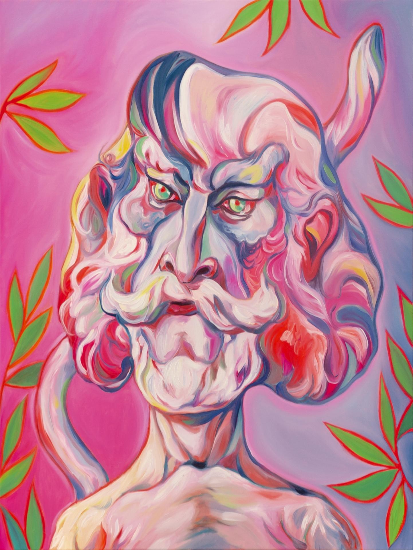 Luigi Presicce - Homo Sapiens Sapiens Sapiens (Stefano) - 2020 - Olio su tela - 80x60cm - fot_n_ 2392 - Cod_11Pre2020